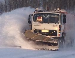 На дороги области высыпали более 3000 тонн пескосоляной смеси