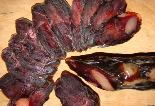 Вяленая колбаса домашних условиях