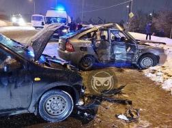 В Пензе на Окружной столкнулись два отечественных авто